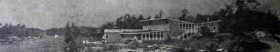 Delawana Inn, old photograph from early 1900s