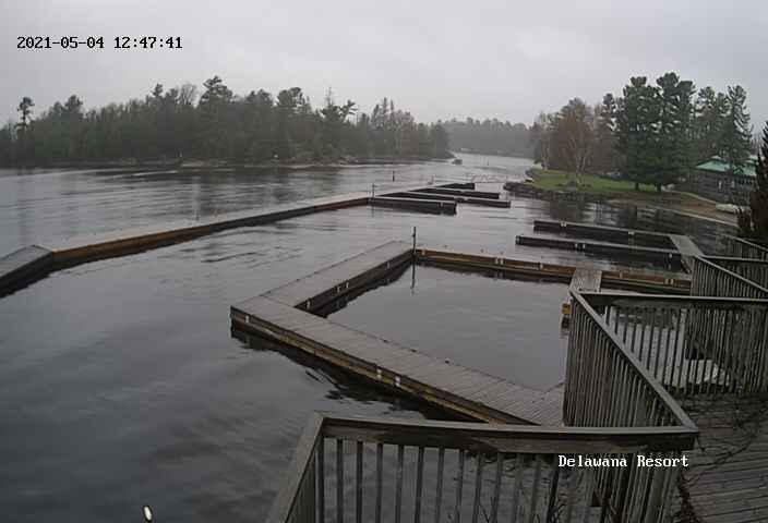 Delawana Resort Webcam looking over Georgian Bay