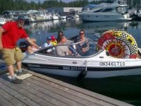 Tubing boat from Diverse Rentals