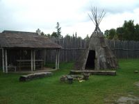 Teepee at Sainte-Marie Among the Hurons
