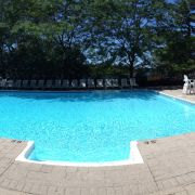 Outdoor Swimming Pool at Delawana Resort