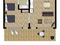 Beeches Suite Floorplan - Delawana Resort