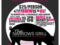 Narrows Grill Restaurant pig roast flyer