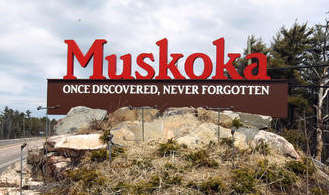 Muskoka Welcome sign
