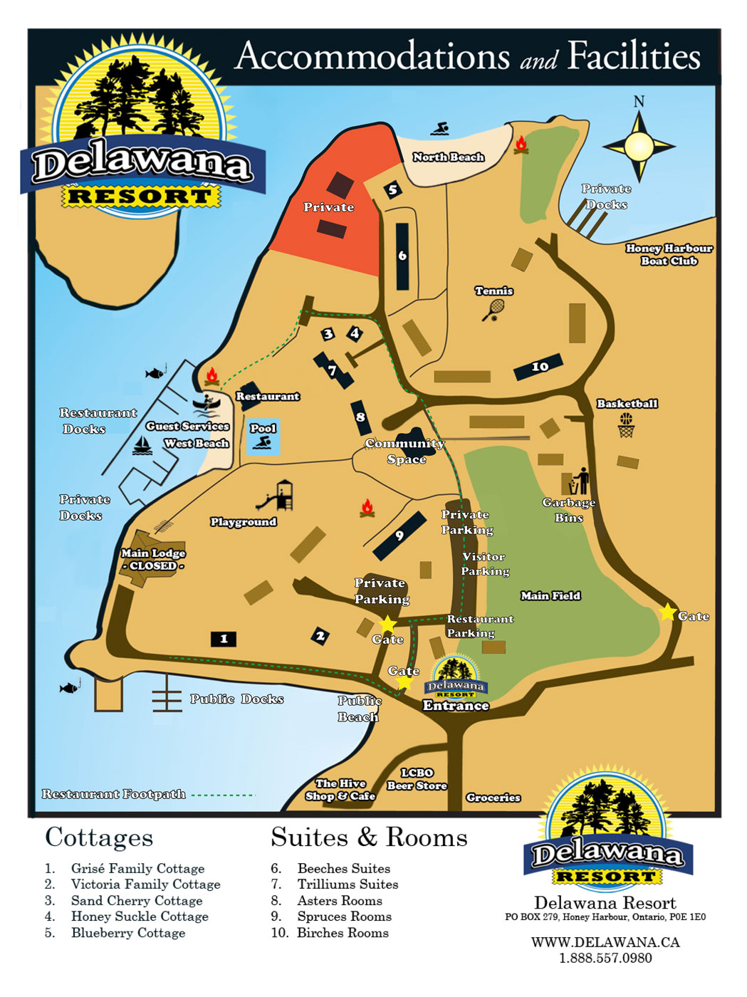 Delawana Resort Map 2020